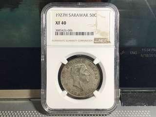 1927H Sarawak 50cent