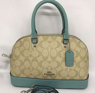 Coach Mini Sierra Khaki Aquamarine