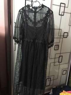 Long Lace dresses set