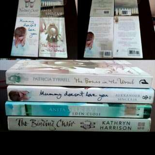 4 Books Binding Chair Eden Close  Mummy Doesnt Love You The Bones In The Womb