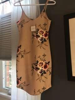 Nude floral dress