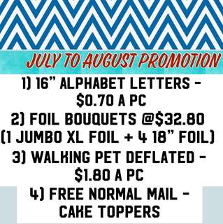 Promotion : June to August (Balloons)