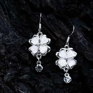 自然派系列-耳針式耳環 典雅 大氣 高CP earrings 水鑽