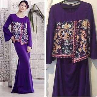Mimpikita Hera Kurung in Purple