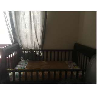 Baby Cot Jati Solid Wood