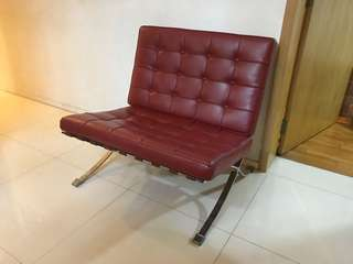 Designer leather single back Rest chair