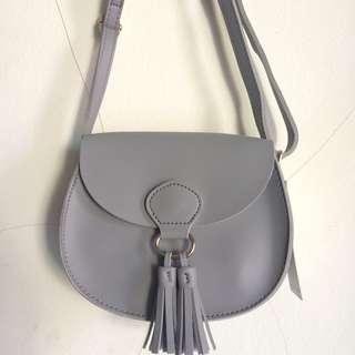 Miniso sling bag / crossbody / selempang gray abu-abu