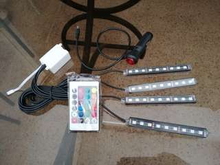Car Foot Atmosphere LED Light with remote control