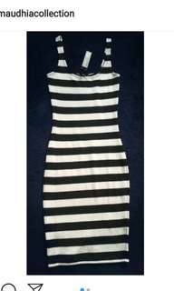 Dressmidi stripe COTTON ON