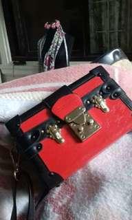 Louis Vuitton Petit Malle Red Bag