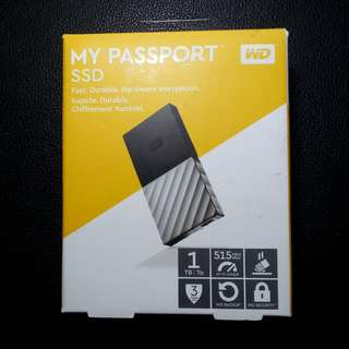 MY PASSPORT SSD 1TB 1000GB solid state portable flash / hard drive super light and small size Western Digital, WD