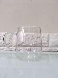 玻璃杯 咖啡杯 花茶杯 加厚耐熱 330ml 清洗過 差不多全新