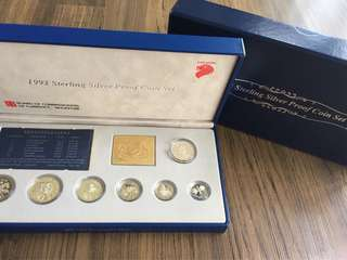 A091 - Singapore 1992 Silver Proof Coin Set