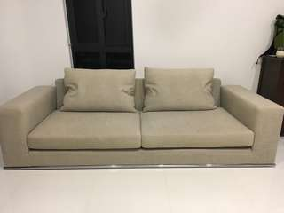 Beautiful 3 seater sofa. 100% down filling. MUST SELL!