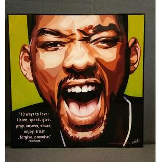 Will Smith Motivational Art Piece from Thailand
