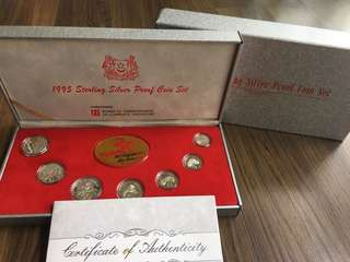 A093 - Singapore 1995 Silver Proof Coin Set