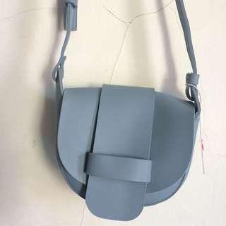 Miniso sling bag / crossbody bag / selempang blue biru
