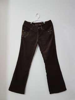 SALE! Giordano Brown Corduroy Pants 25