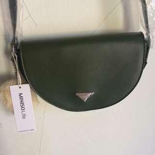 Miniso sling bag / crossbody / selempang green hijau