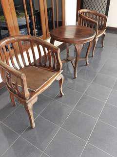 kursi kayu set