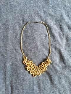 Textured Bib Necklace