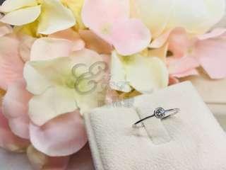 18K 750 白金鑽石戒指