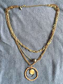 Tri-Color Layered Necklace