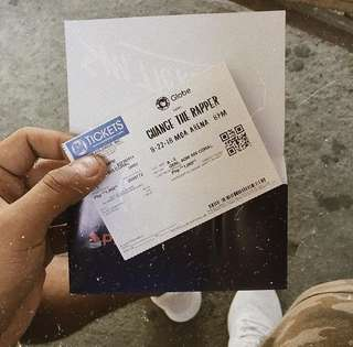 Chance The Rapper In Manila Concert Ticket.  (General Admission) rush!
