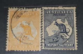 Australia old stamps used