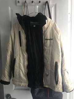 Vintage cream Timberland Puff Jacket