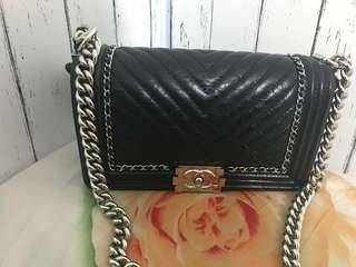 Jerry媽媽-Chanel boy25cm 限量款