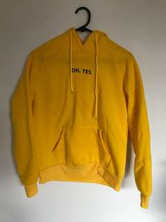 Oh, Yes. Yellow Hoodie