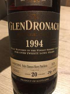 1994 Glendronach Pedro Ximenez Sherry Puncheon Single Cask 20 Year Old Single Malt Scotch Whisky #格蘭多納威士忌