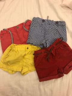 Zara and Gingersnaps Girls shorts
