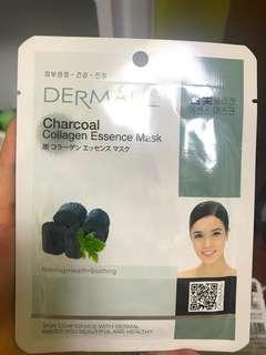 🚚 DERMAL竹炭膠原蛋白精華面膜019