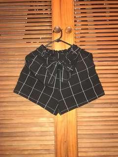 PULL&BEAR Checkered Tie Shorts