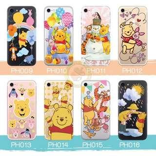 訂製多種型號 phone case 透明手機套 電話套 pooh winniethepooh