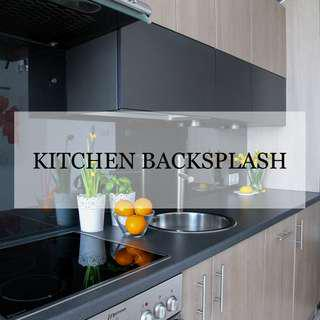Glass Kitchen Backsplash