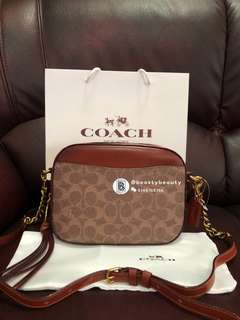 Coach Camera Bag in Signature Canvas - previous customer order real shoot