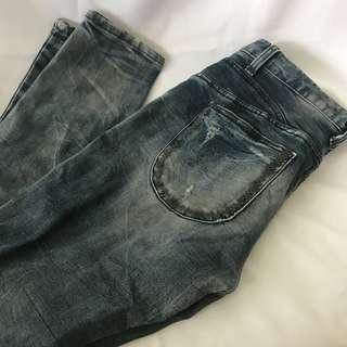 🚚 刷色牛仔長褲 #女裝半價拉
