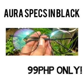 Aura specs in black