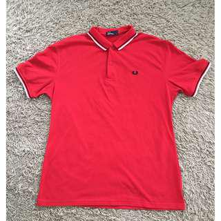 FRED PERRY MEN RED POLO SHIRT (SIZE:XL) RM25 FREE POSTAGE