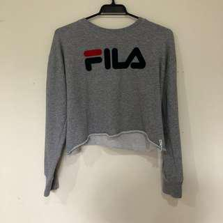 fila x factorie cropped jumper