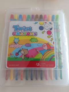 BN Twist Crayons (12 colours)