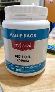 Red seal  魚油丸 500粒