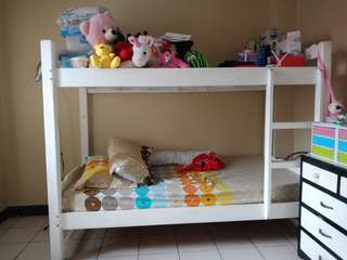 Bunk Bed Wooden with 2 Foam Mattress