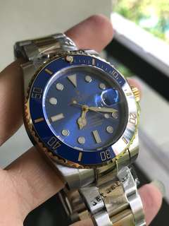 ROLEX SUBMARINER GOLD BLUE