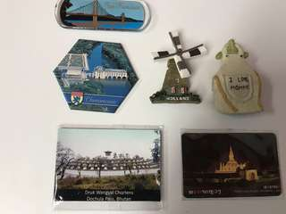 🚚 Fridge / Whiteboard Magnets from Holland , Bhutan, Laos , San Francisco USA