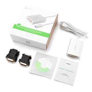 (BNIB) UGREEN USB 3.0 to DVI / HDMI / VGA Video Graphic Adapter Converter (Brand New Boxed)