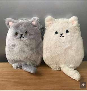 《全新日本直送》貓貓電話袋(白色/灰色)